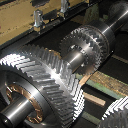 Assembled countershaft for a mechanical press